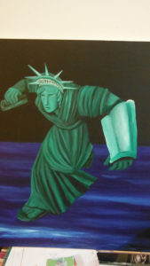 Statue of Liberty painting by CricketDiane 2015 - 2016